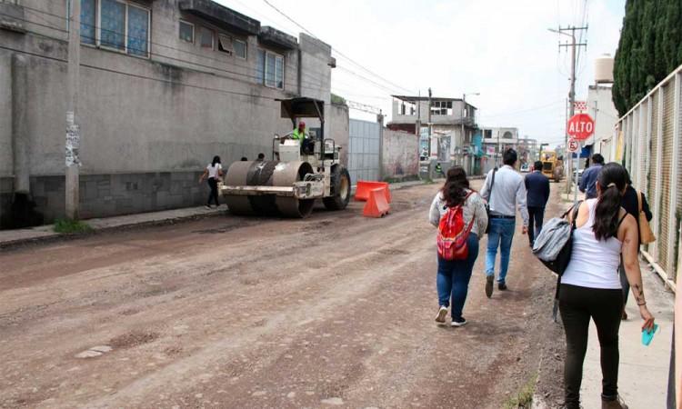 Pavimentación de una calle