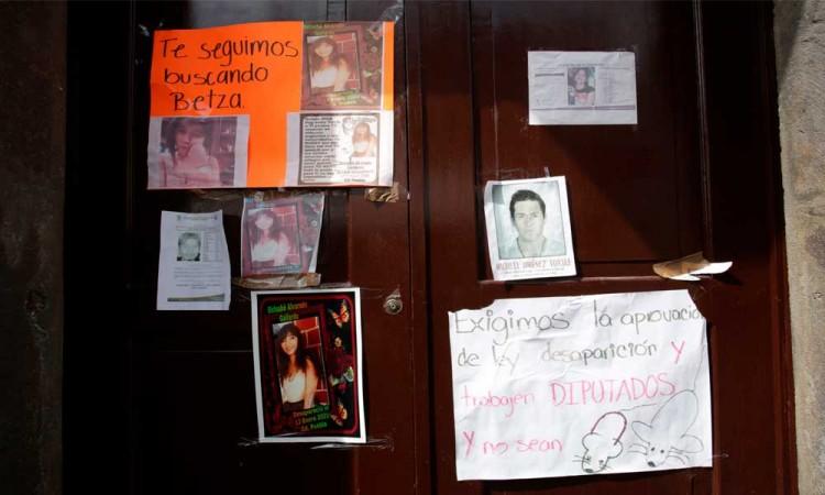 Plantón del colectivo Voz de los Desaparecidos