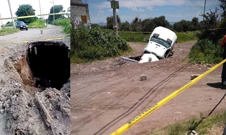 ¿Otro socavón? Piden vecinos atención en Huejotzingo ante la formación de un hoyo