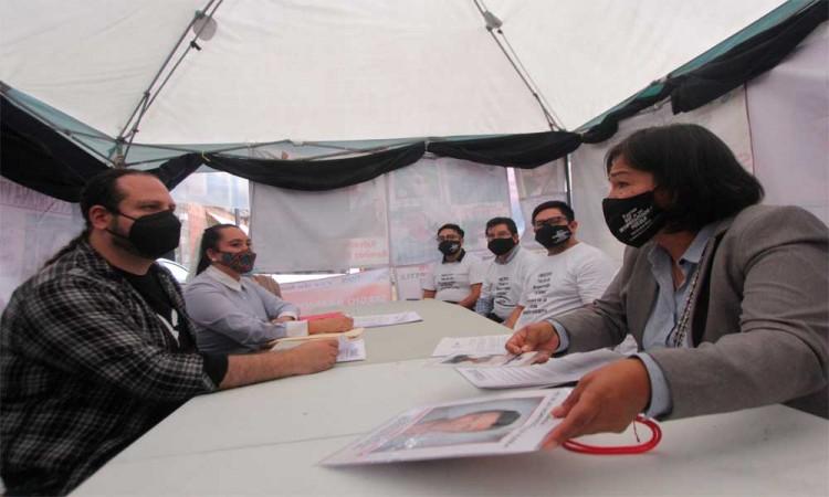 Reunión de diputadas con el colectivo Voz de los desaparecidos