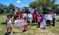 Piden niños en Atlixco mantener medidas sanitarias ante Covid
