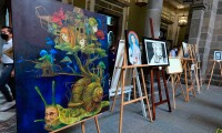 Inaugura Ayuntamiento de Puebla muestra plástica de creadores poblanos