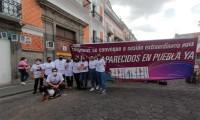 """Marcha por los desaparecidos en Puebla, """"seguimos en pie de lucha"""""""