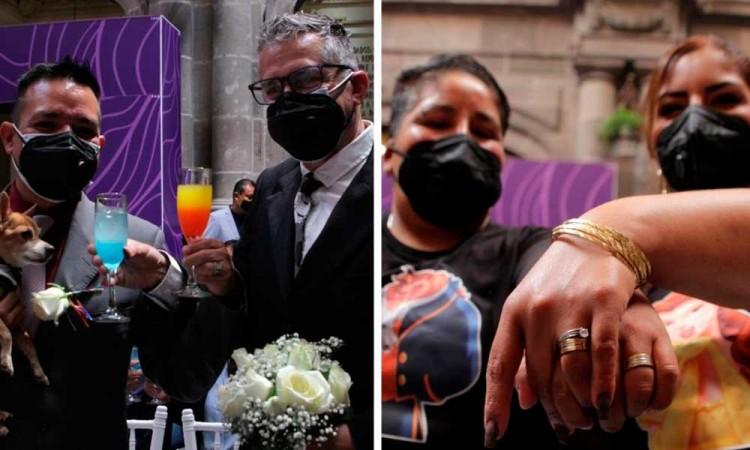 ¡POR FIN! Después de varios años de lucha, parejas LGBT celebran su boda en el Ayuntamiento de Puebla