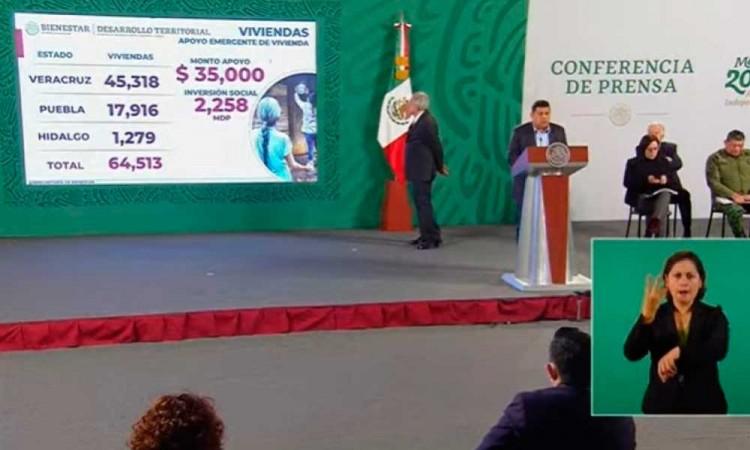 Recibirán 35 mil pesos en efectivo damnificados por Grace en tres estados