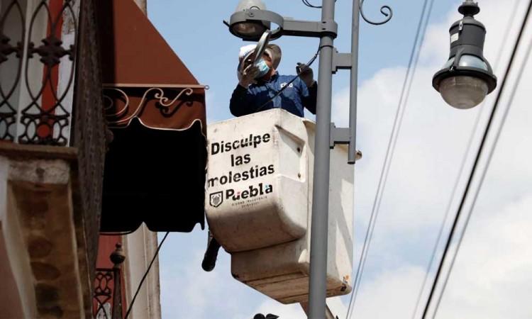 Mantiene Ayuntamiento de Puebla servicios públicos en calles de la ciudad