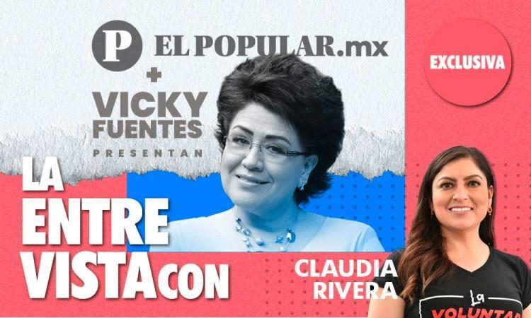 Entrevista con Claudia Rivera: Resultados de 3 años de su gobierno con Vicky Fuentes