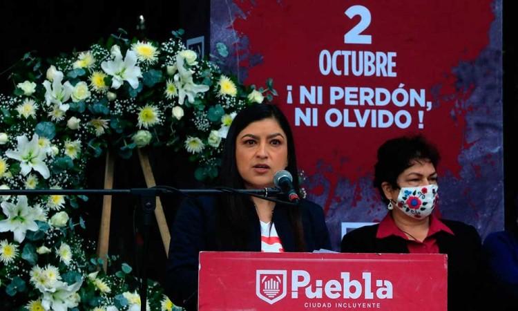 ¡Ni perdón, ni olvido! Conmemoran en Puebla el 2 de octubre del 68