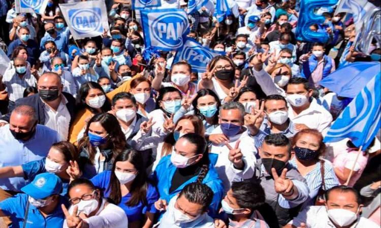 Panistas de todo el estado respaldan a Genoveva Huerta como candidata a la Presidencia del Comité Directivo Estatal del PAN para el periodo 2021-2024