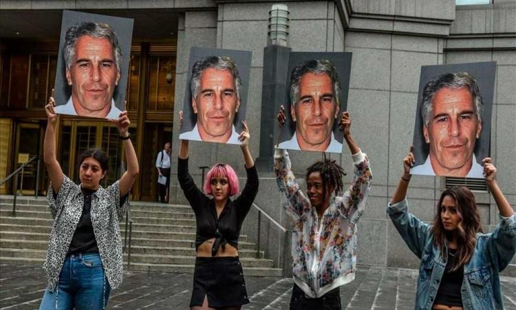 Protesta contra Jeffrey Epstein