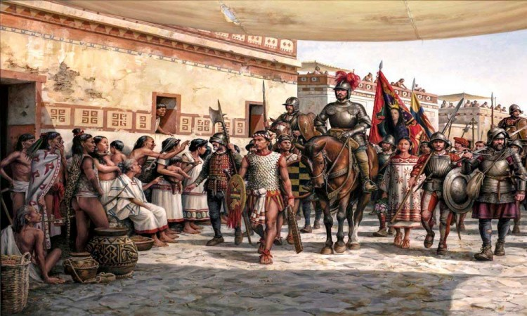 La llegada, del pintor Augusto Ferrer Dalmau