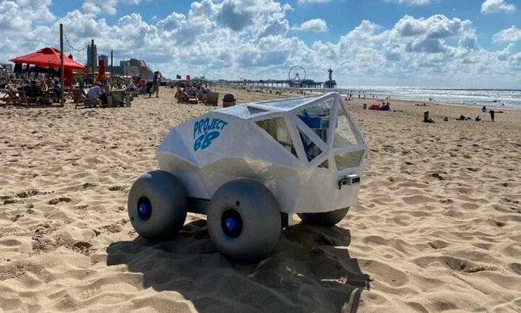 ¿Playa? Conoce a BeachBot, el pequeño robot a favor del medio ambiente