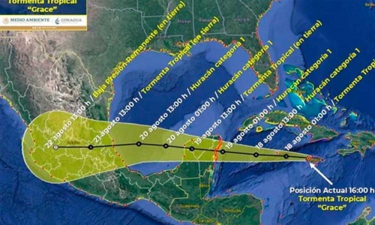 ¿Cómo afectará la tormenta Grace en México?