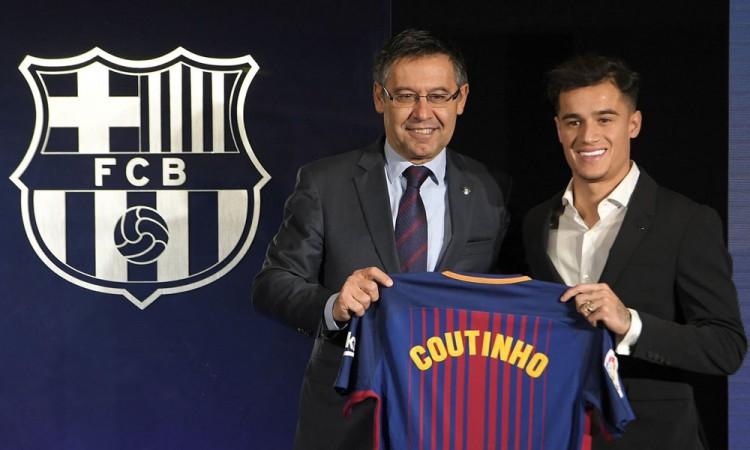 Presenta Barça a Philippe Coutinho