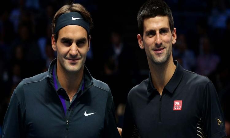 Federer y Djokovik en el mismo lado