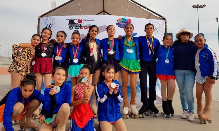Equipo de patinaje de Puebla se foguea a nivel nacional