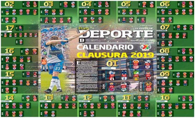 Este es el calendario del Clausura 2019 de la Liga MX