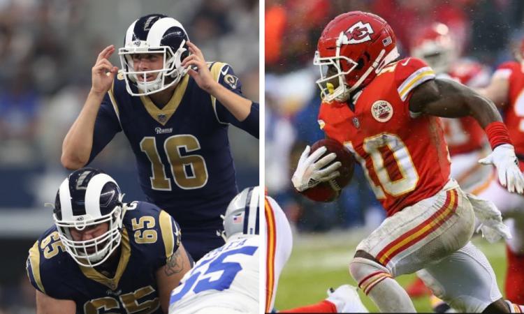Chiefs y Rams, esperan rival para final de sus conferencias