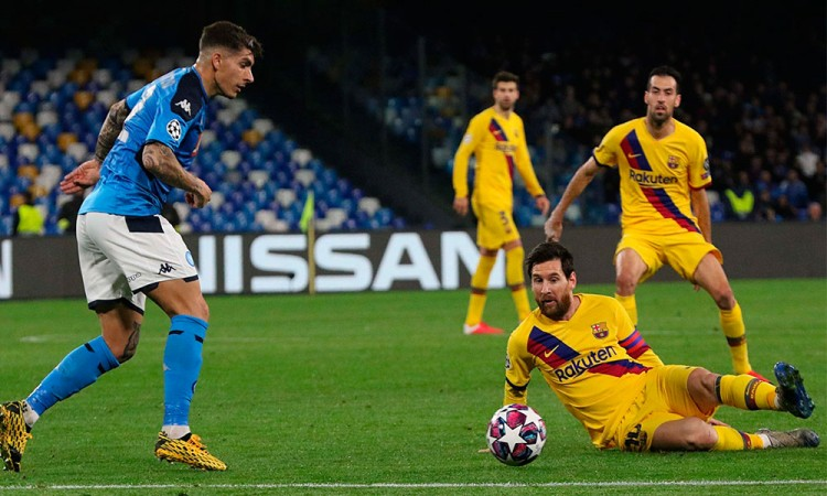 Amargo empate Napoli - Barcelona