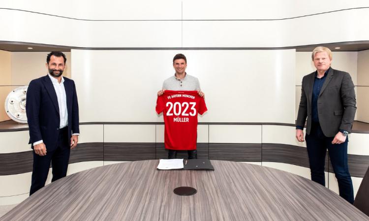 El Bayern Munich renueva a a Thomas Müller hasta 2023