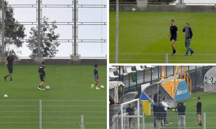 Cristiano Ronaldo vuelve a entrenar donde se inició en el futbol