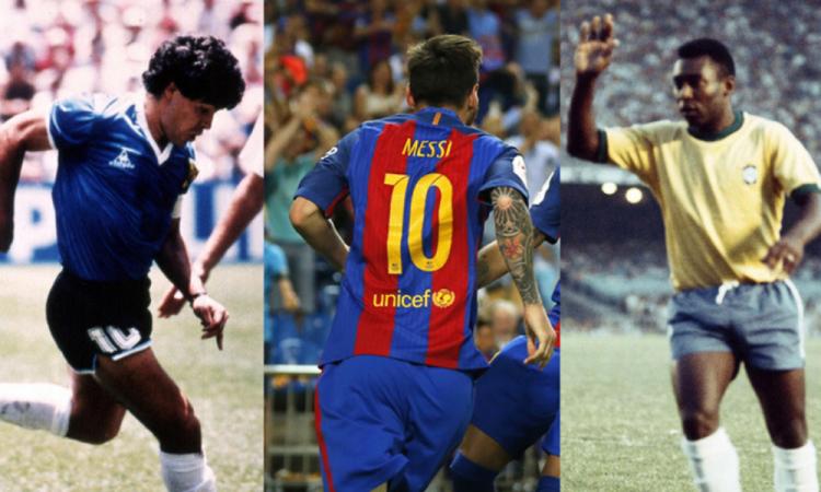 Subastarán playeras usadas por Maradona, Pelé y Messi