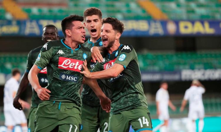 Lozano vuelve a anotar con el Napoli después de siete meses