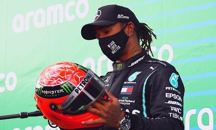Lewis Hamilton logró la 91ª victoria de su carrera.