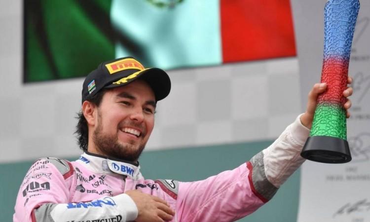 Espero que oigamos el himno nacional mexicano muchas veces: Checo Pérez