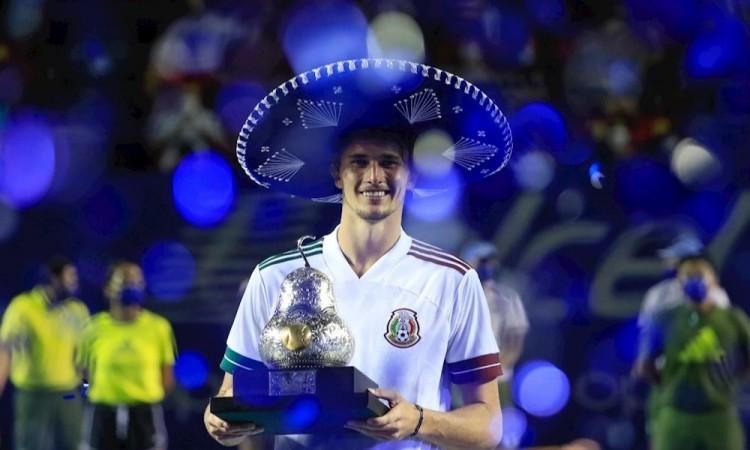 El alemán Zverev ganó el Abierto de Acapulco