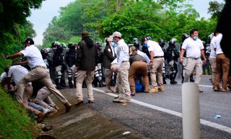 ONU pide a México cesar el uso excesivo de la fuerza contra migrantes