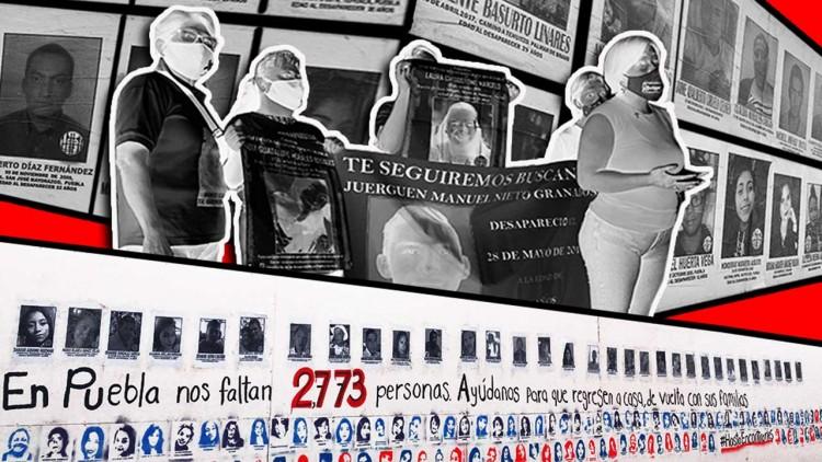 El Muro de los Desaparecidos de Puebla, aquí las historias de quienes ya no están