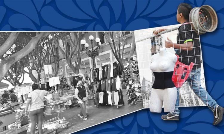 ¿De dónde viene el problema del comercio informal en la ciudad de Puebla?