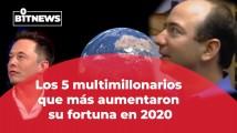 Multimillonarios que vieron su fortuna crecer en 2020