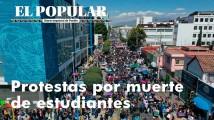 Se movilizan por asesinato de estudiantes en Puebla