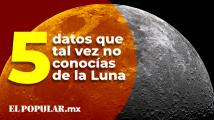 Estas son 5 curiosidades que quizá no sabías sobre la luna