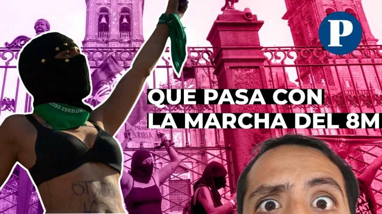 Por qué la Marcha del #8M fue tan polémica en Puebla