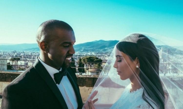 Celebran 6 años de matrimonio Kim Kardashian y Kanye West