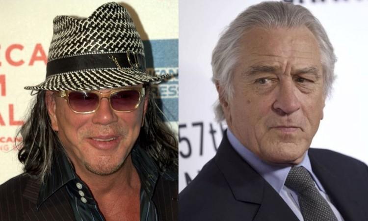 Mickey Rourke amenaza a Robert De Niro por Instagram
