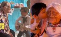 """Niño de 5 años canta """"Recuerdame"""" a su abuelita que cumple 99 años"""