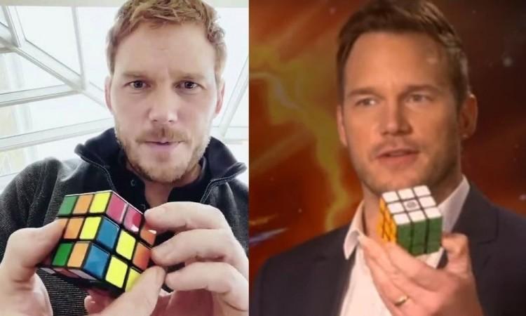 Chris Pratt resuelve un cubo de Rubik en menos de un minuto y presume en Instagram