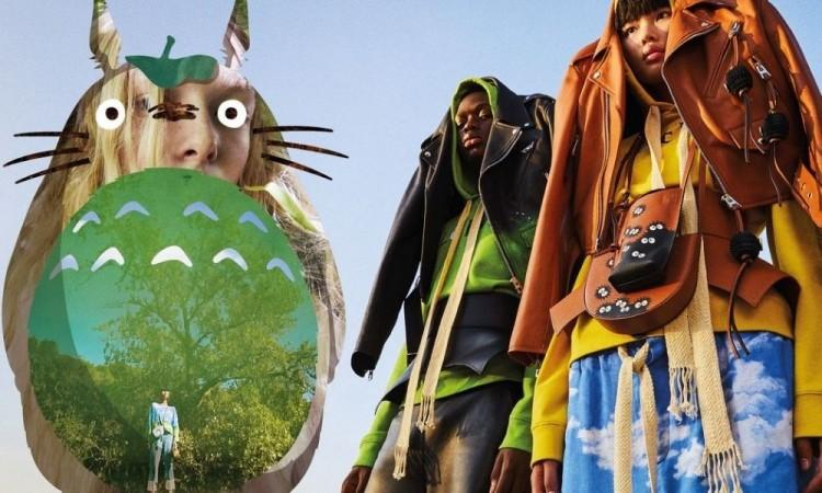 """Loewe reproduce la iconógrafía de """"Mi vecino Totoro"""" en una nueva colección"""