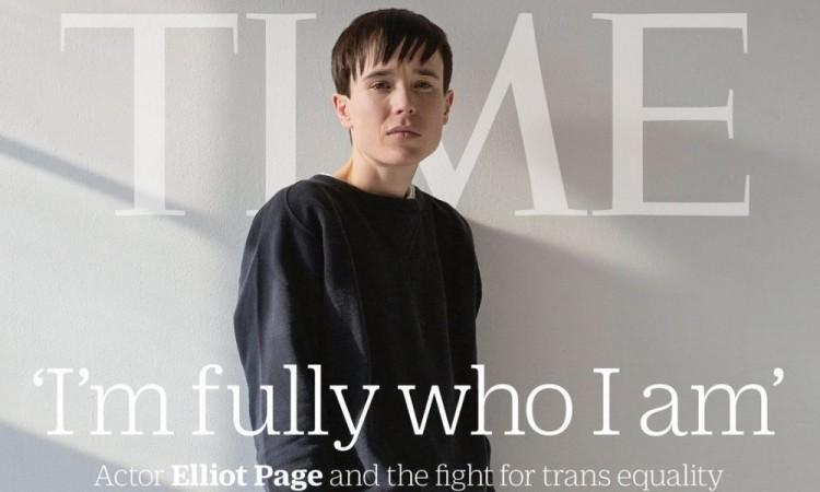 Elliot Page el primer hombre trans en salir en la portada de la revista TIME