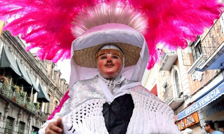 Tiempo de Carnaval: Huehues en el Centro Histórico