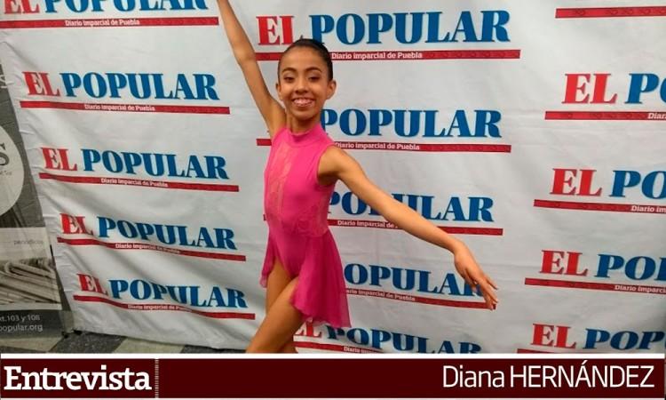 Bailarina poblana busca apoyo para viajar a Cuba