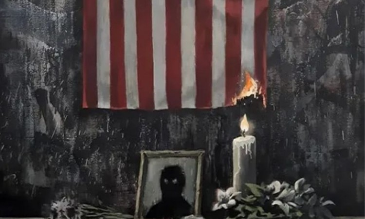 Banksy se unió al #blacklivesmatter con pintura en honor a George Floyd
