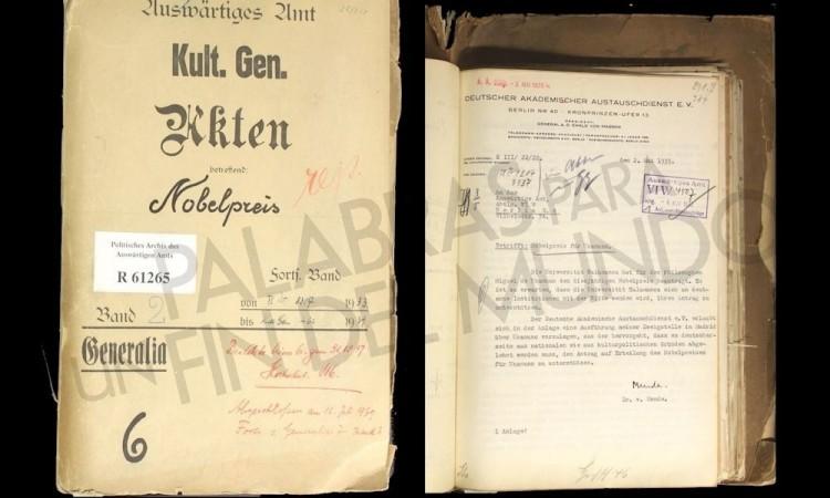 Documento histórico alemán prueba las trampas contra el Nobel a Unamuno en 1935