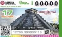El Castillo de Chichén Itzá, talismán del próximo Sorteo Superior de la Lotería Nacional