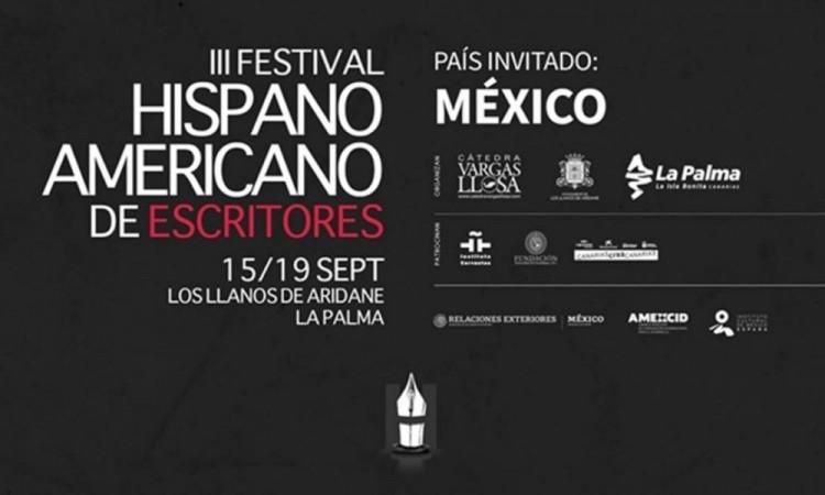 La gran literatura de México centrará el Festival de Escritores de La Palma