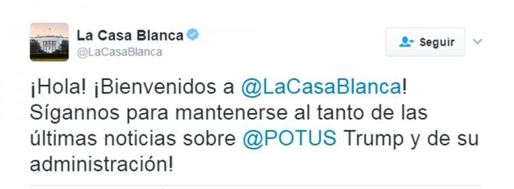 Emite Casa Blanca primer mensaje en español